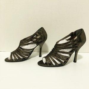 Nina New York metallic strappy heels NWOT
